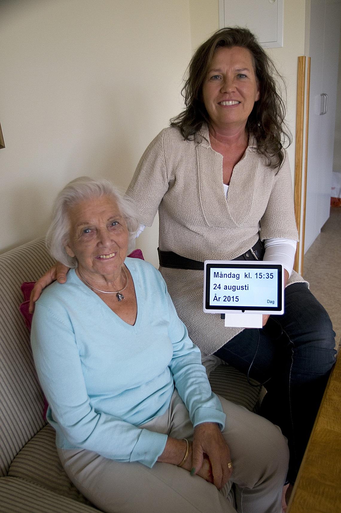 Kerstin Ahlmér og hendes mor Anna