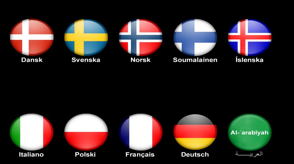 Vælg sprog