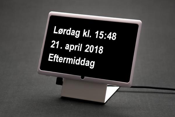 Dintido - digital kalender med ur til ældre og demente